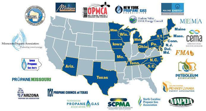Associations state map logos
